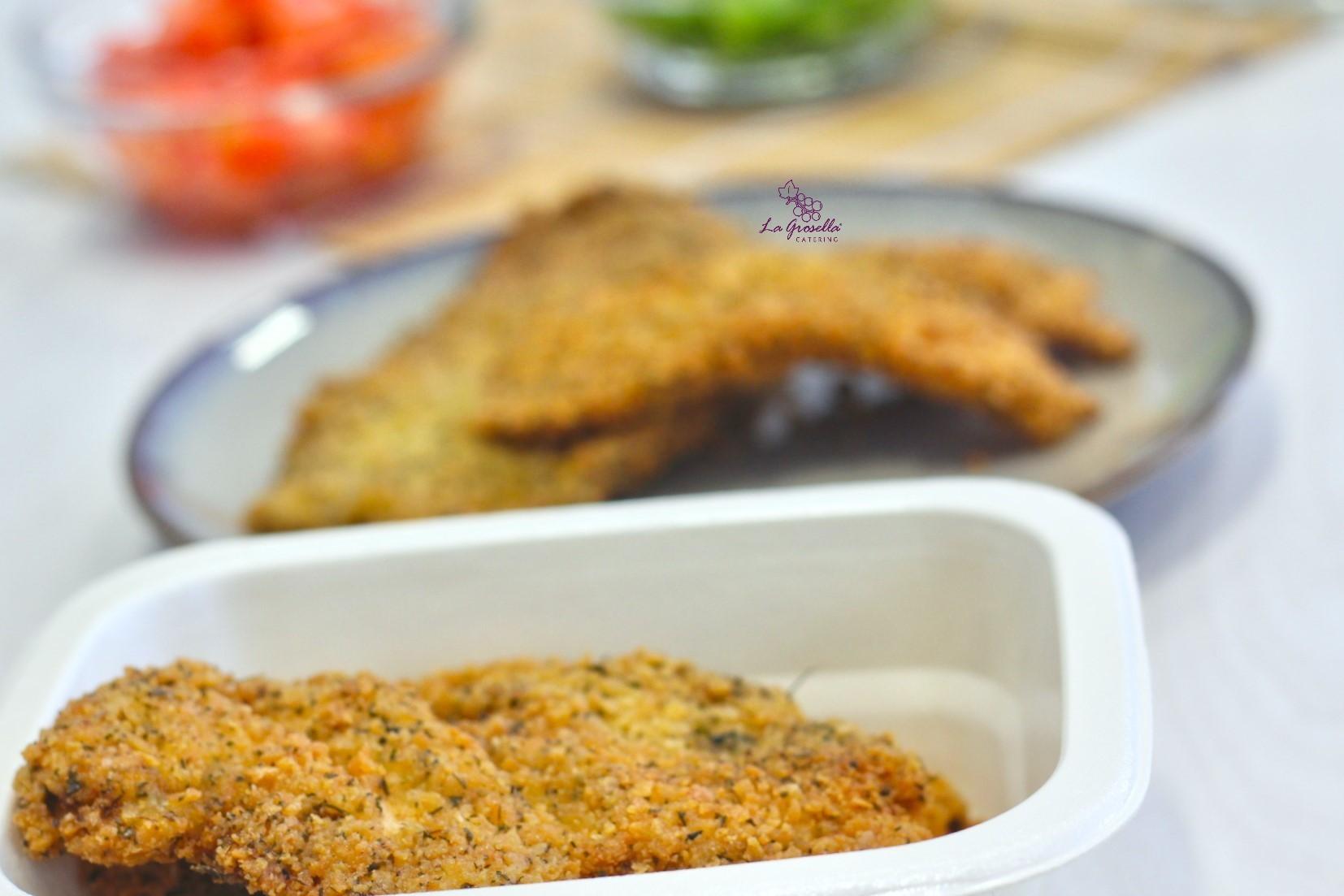 2 Raciones de filetes de pollo empanados