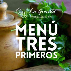 Menu para oficinas con tres primeros - La Grosella Madrid