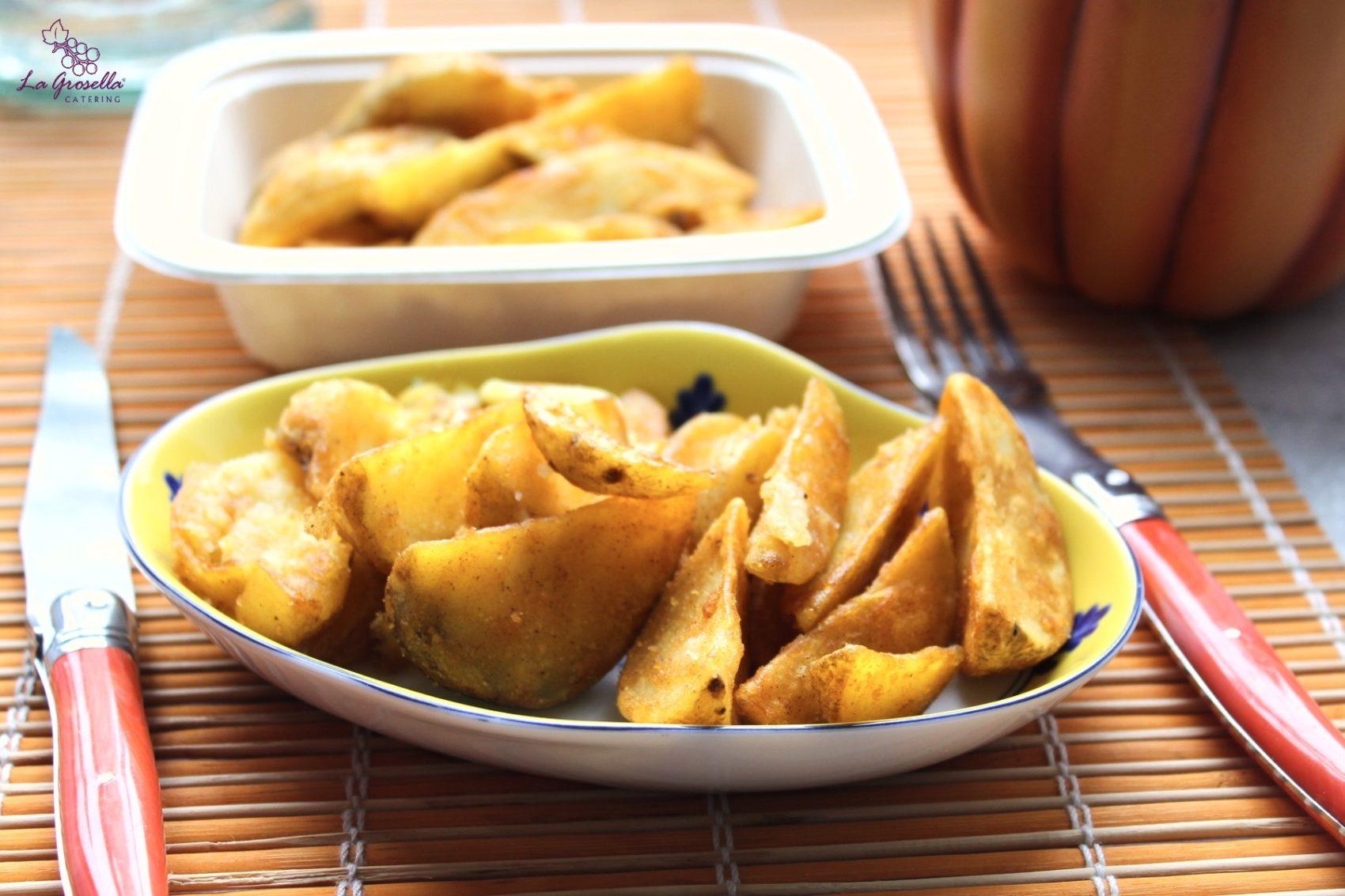 Patatas en gajos al horno