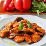 Comida a domicilio - Berenjena con salsa canaria