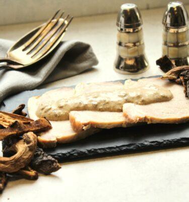 Lomo con salsa cremosa de Boletus