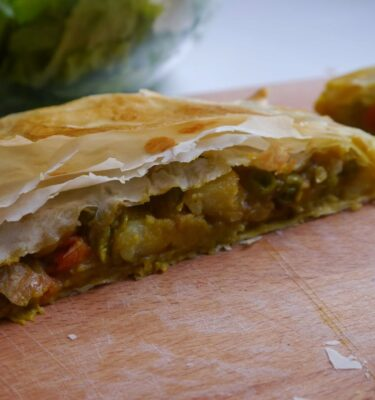 Empanadas gourmet del mundo - India: Vegetariana con parrillada de verduras