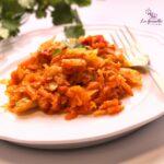 Comida a domicilio - Repollo rehogado con zanahoria