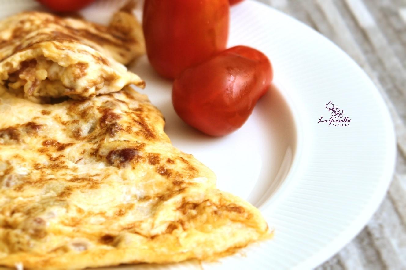 Tortilla francesa con espárragos