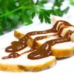 Comida a domicilio - Pechuga de pavo con salsa de ciruelas