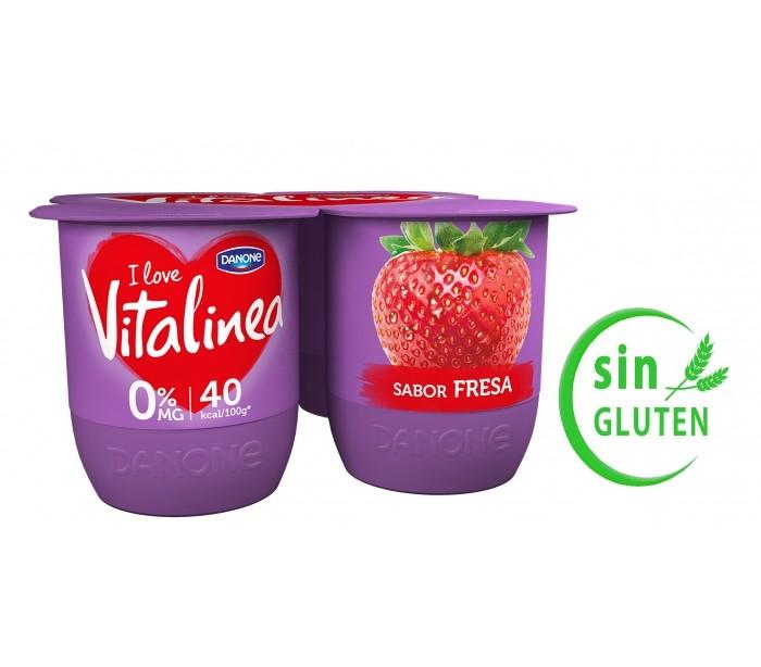 Yogur de fresa Vitalinea extra
