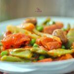 Comida a domicilio - Menestra de verduras con pimentón y tomates cherry