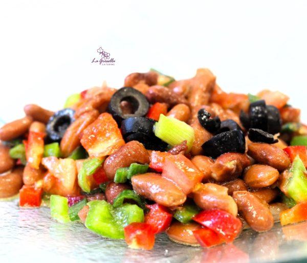 Ensalada de alubias rojas veganas de La Grosella