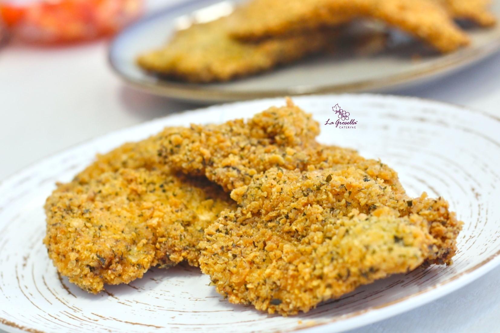 Filete de pollo empanado