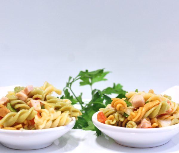 Ensalada de pasta con pavo y verdura de La Grosella - copia (1)