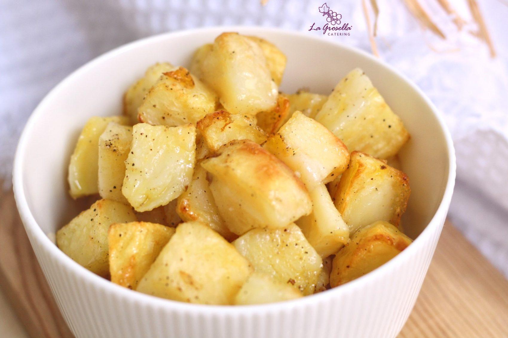 Patatas en dados con especias