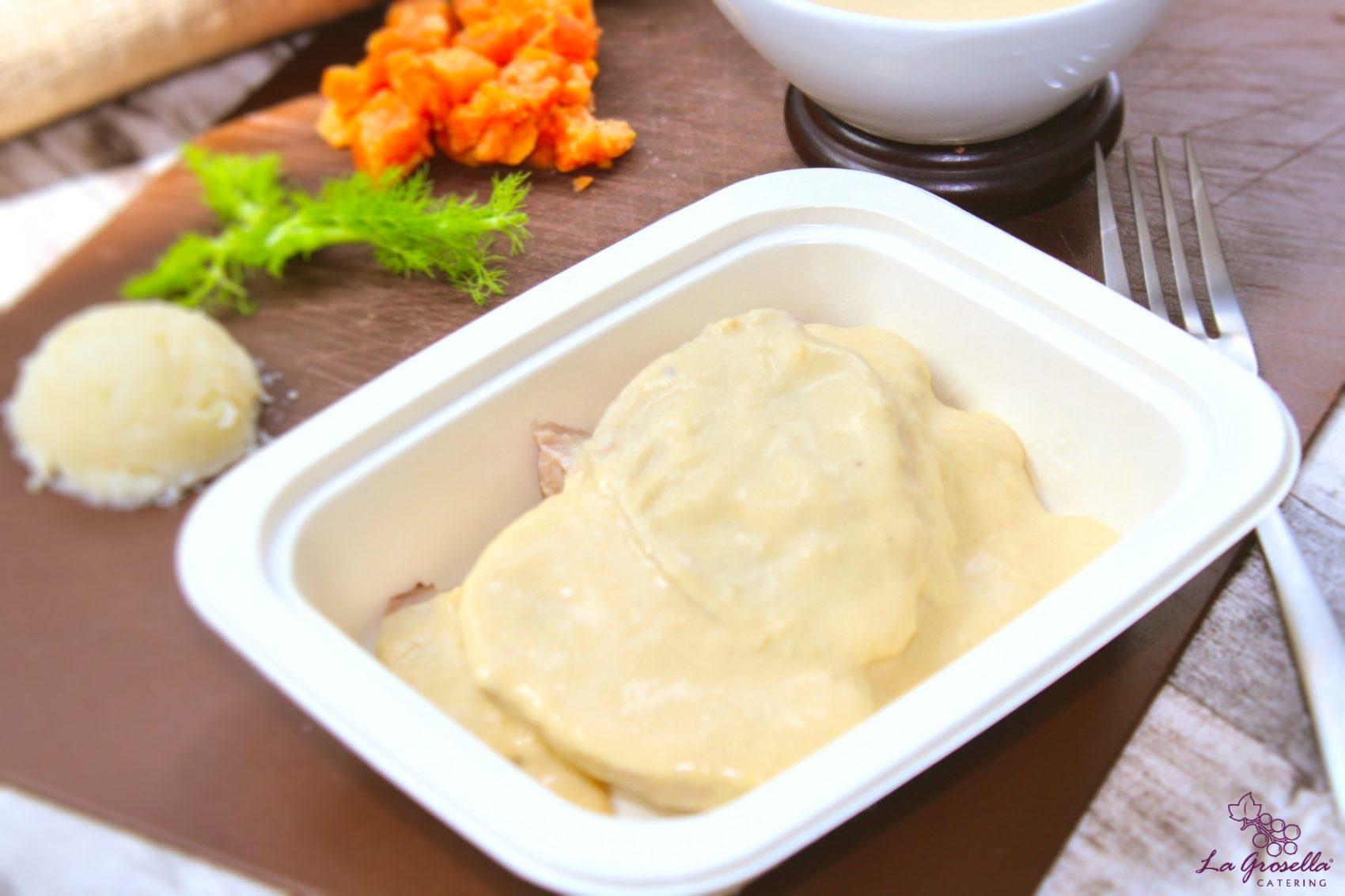 Solomillo con salsa parmesana