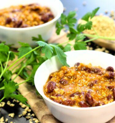 Chili vegano con soja texturizada