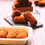 Comida a domicilio - Croquetas de pescado con pimientos del piquillo