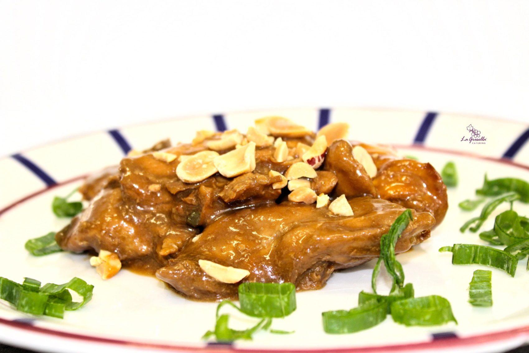 Ragú de pollo de pollo Kung Pao