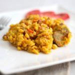 Comida a domicilio - Arroz con pollo y jamón