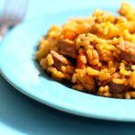 Comida a domicilio - Arroz con longaniza y pimientos asados