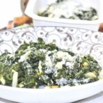 Comida a domicilio - Espinacas al ajillo con huevo y parmesano