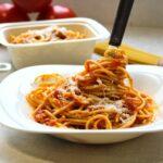 Comida a domicilio - Espaguetis sin gluten all´amatricciana