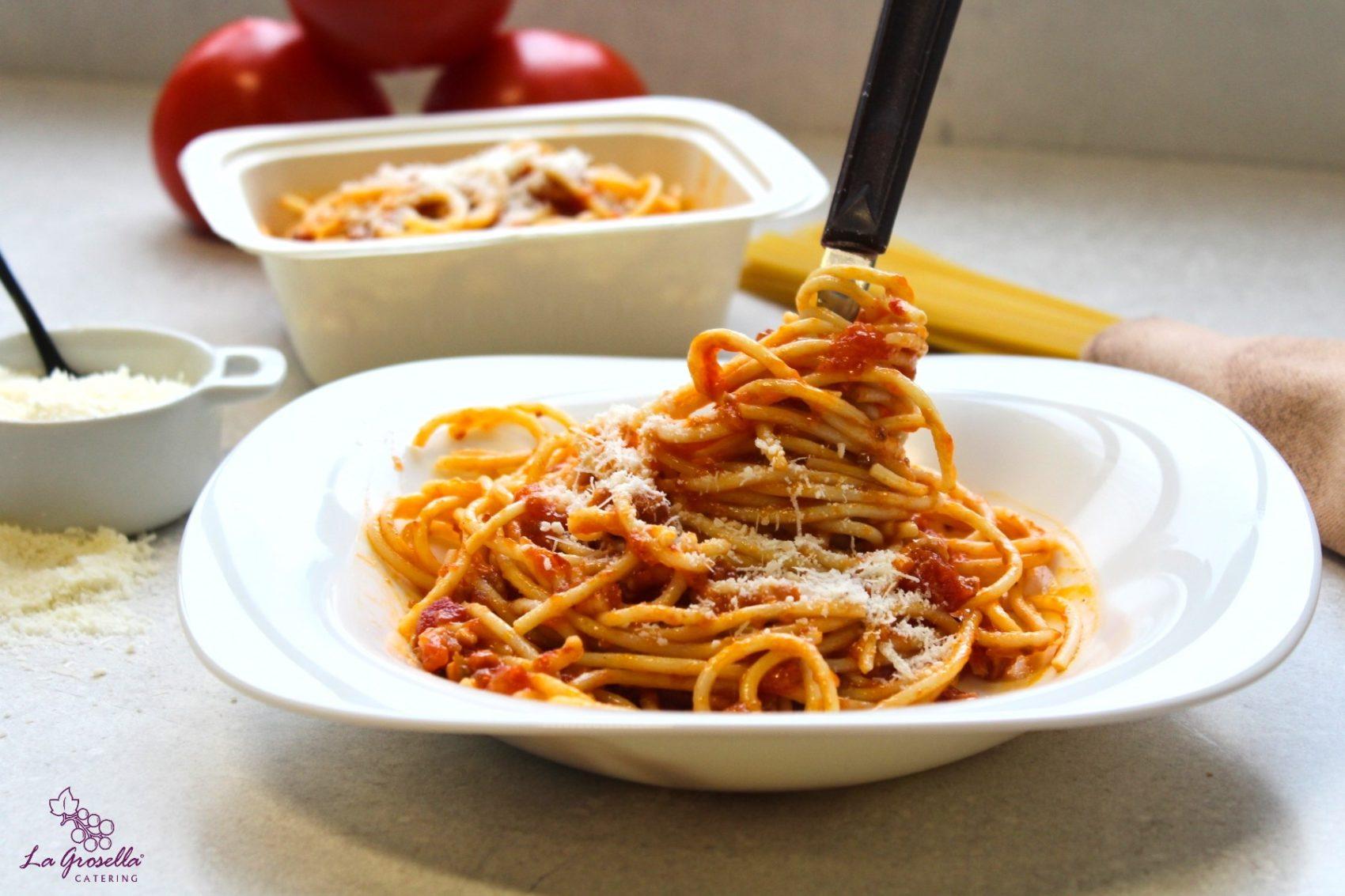 Espaguetis all´amatricciana