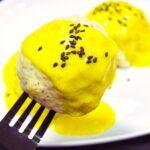 Comida a domicilio - Albóndigas de pollo con salsa de curry y yogur