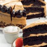 Comida a domicilio - Tarta de caramelo salado y chocolate, vegana